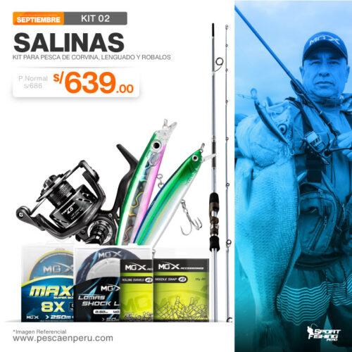 02 kit de pesca salinas
