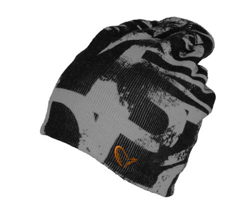 SG Printed Beanie Black Grey 1