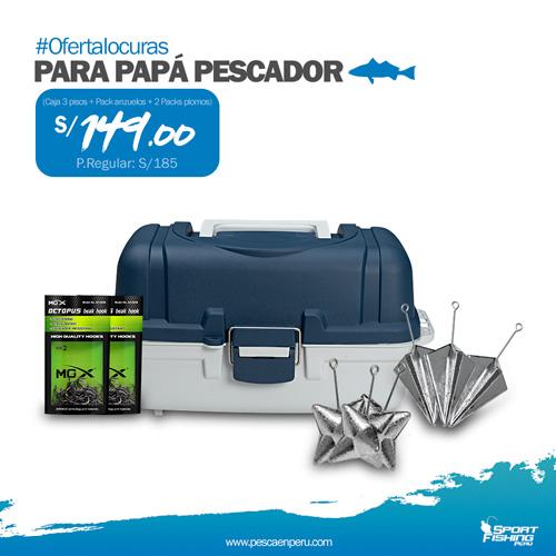 SportFishing Peru Caja 3 pisos pack plomos