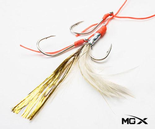 anzuelo mgx con plumas CR 02
