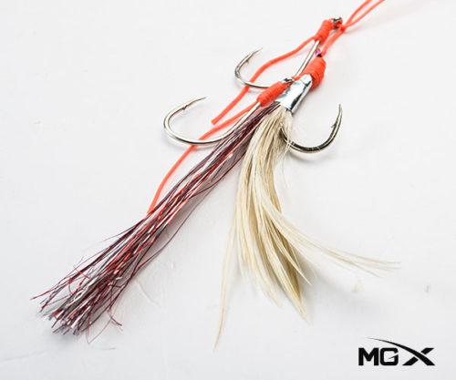 anzuelo mgx con plumas CR 04