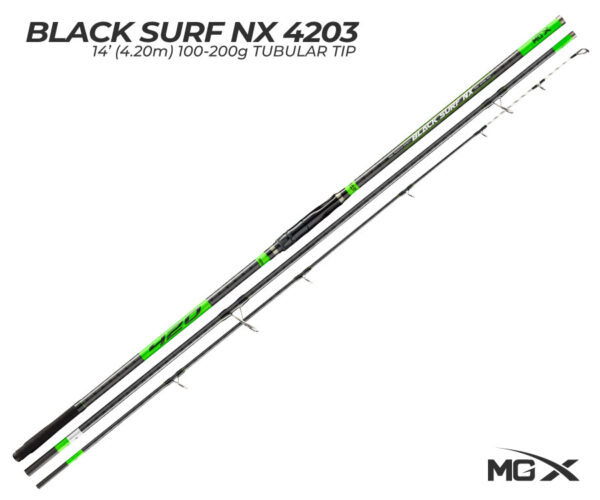 cana de surfcasting mgx black surf nx