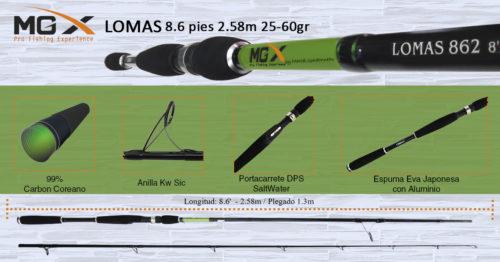 cana spinning mgx lomas 862 2 58m 25 60gr 1