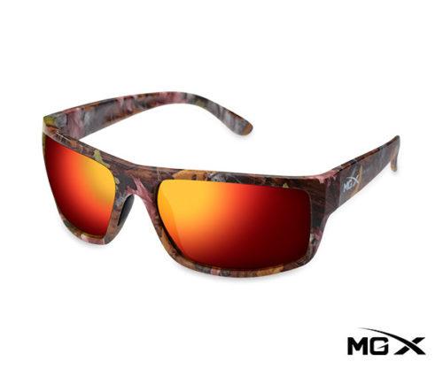 lentes mgx camuflados con espejado rojo