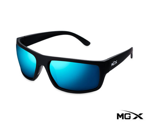 lentes mgx negros con espejado azul
