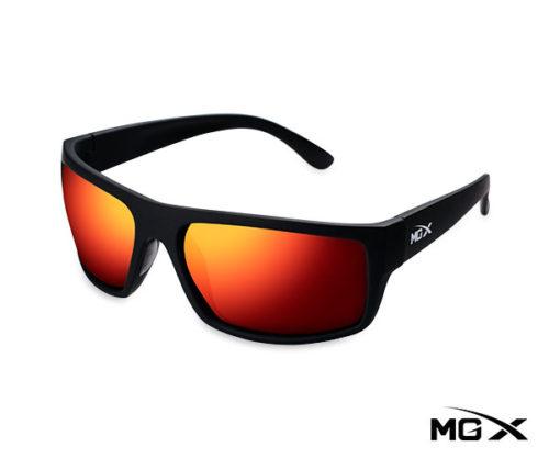 lentes mgx negros con espejado rojo