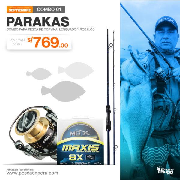 07 combo de pesca parakas