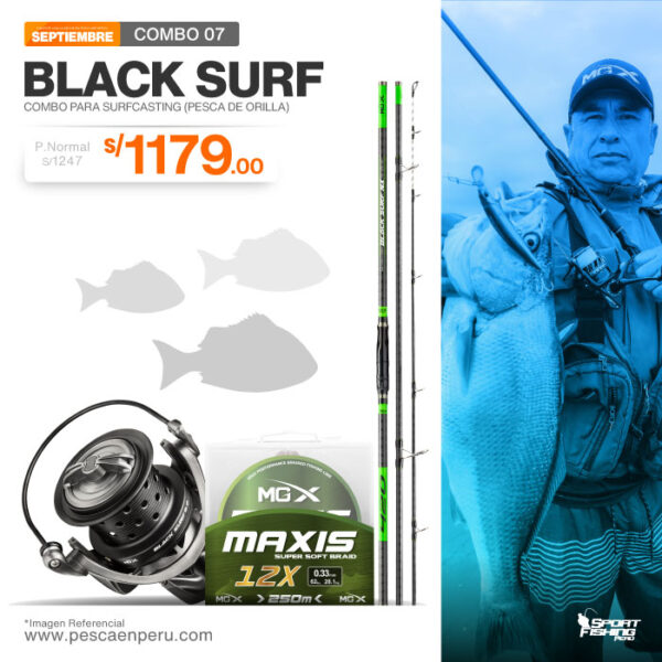 17 combo de pesca black surf
