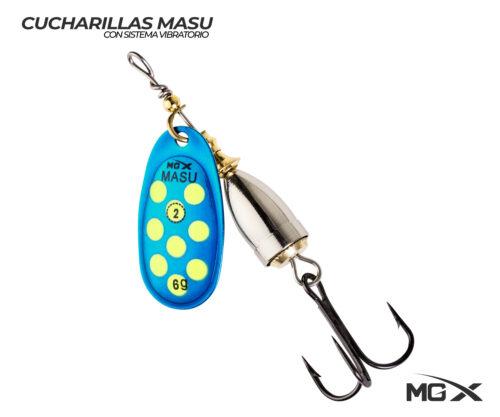 cucharilla mgx masu 2 blue green dots