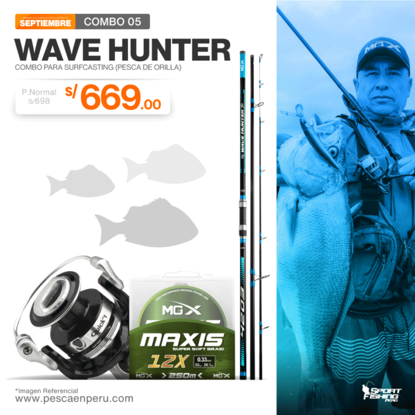 15 combo de pesca wave hunterr