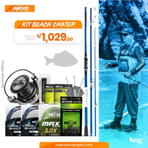 15 kit beach caster sportfishing peru