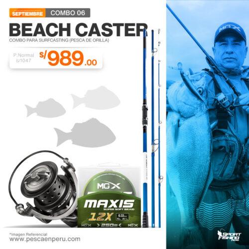 16 combo de pesca beach caster
