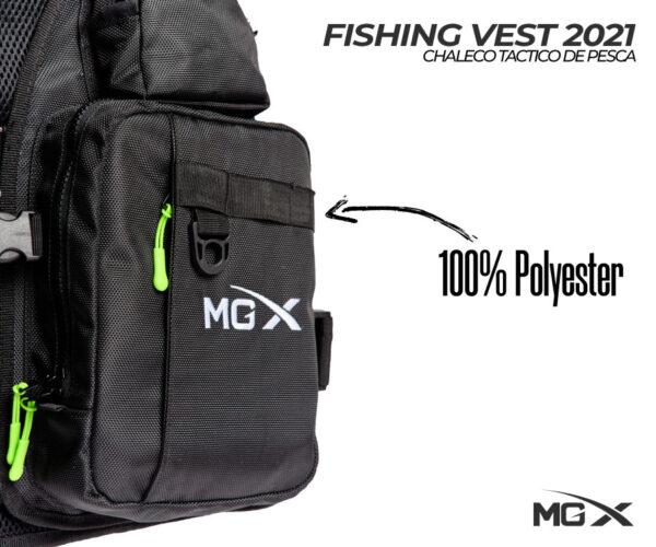 mgx fishing vest 2021 bolsillo