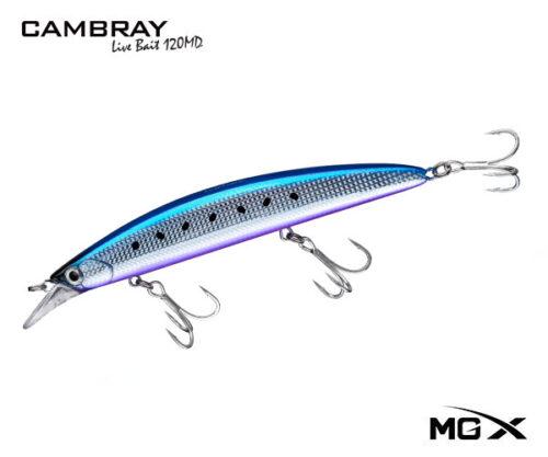 senuelo mgx cambray 120md purple belly sardine II