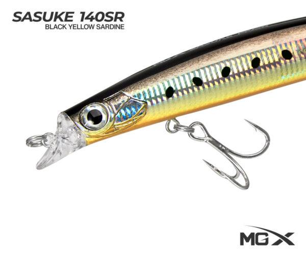 senuelo mgx sasuke 140sr black yellow sardine 0