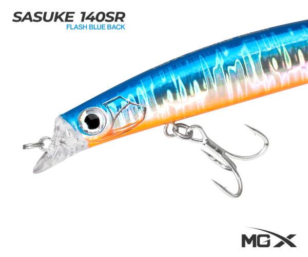 senuelo mgx sasuke 140sr flash blue back 0