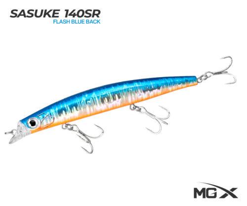 senuelo mgx sasuke 140sr flash blue back