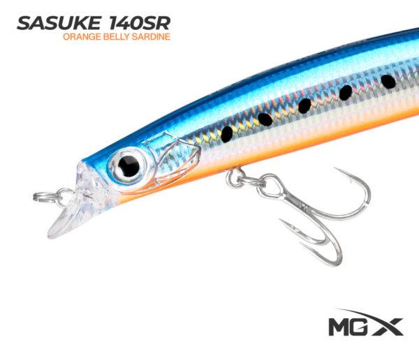 senuelo mgx sasuke 140sr orange belly sardine 0