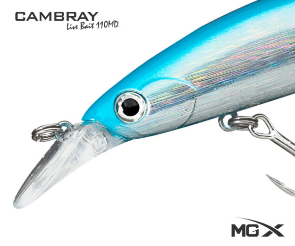 senuelo mgx cambray live bait 110md light blue 0