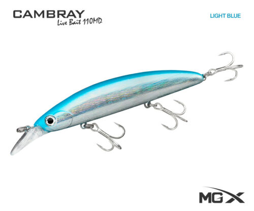 senuelo mgx cambray live bait 110md light blue