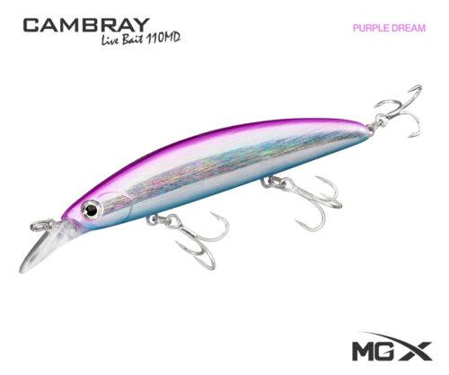 senuelo mgx cambray live bait 110md purple dream